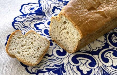 לחם דל פחמימות מחמאת שקדים