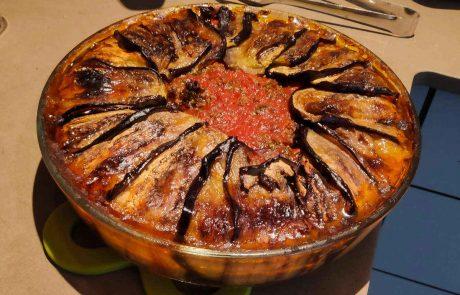 עוגת בשר וחצילים מהמטבח התורכי